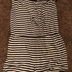 LOFT Dresses - NWT Loft Beach striped strapless romper